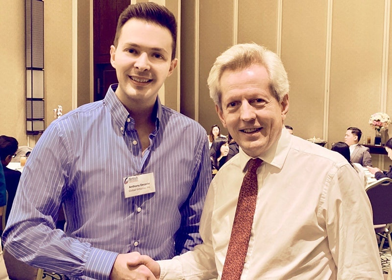 Anthony Decoste, attended a business networking dinner with the UK Prime Minister's Trade Envoy to the Philippines, Richard Graham MP.
