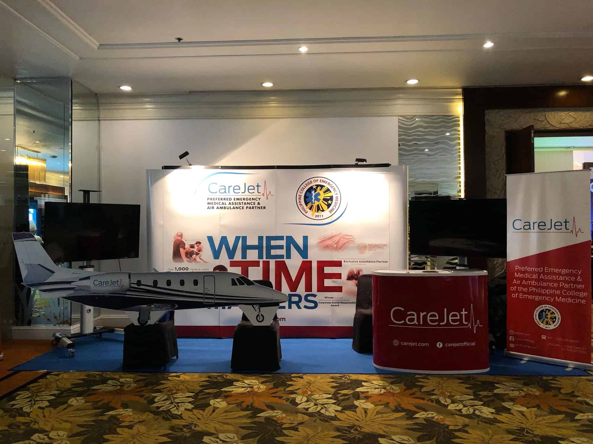 CareJet Exhibition Booth
